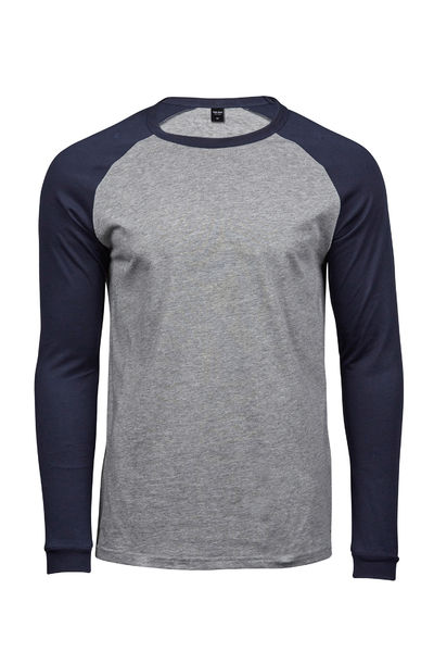 Heather Grey - Navy